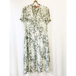 🌸2/30 Cactus pattern button down shirt dress